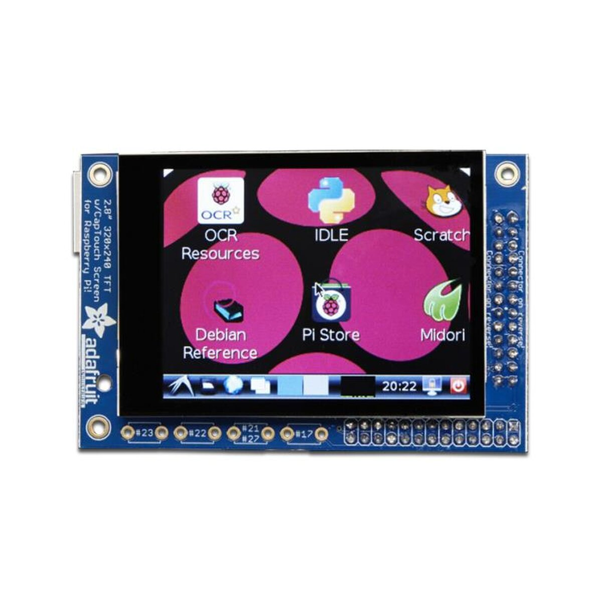 PiTFT Mini - 320 x 240 2.8 TFT Capacitive Touchscreen Display