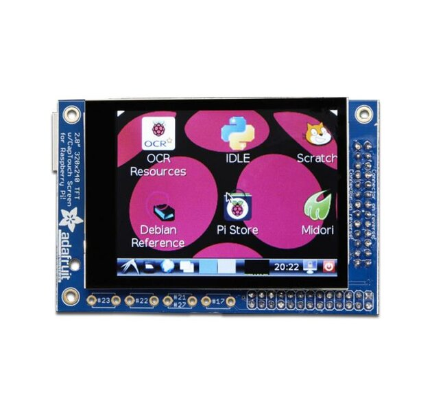 PiTFT Mini - 320 x 240 2.8 TFT Capacitive Touchscreen...