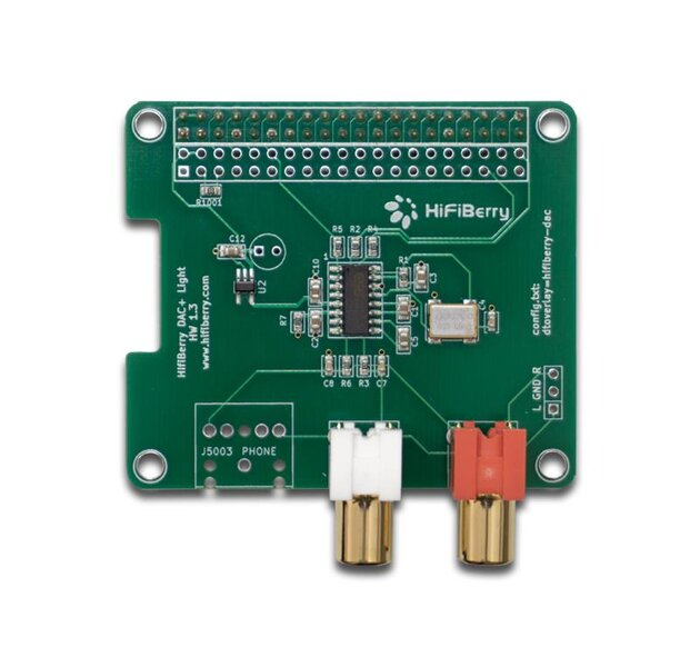 HiFiBerry DAC+ Light für Raspberry Pi