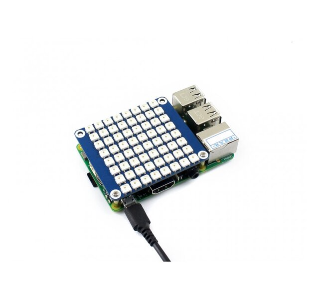 RGB LED Matrix 8x8 HAT  für Raspberry Pi